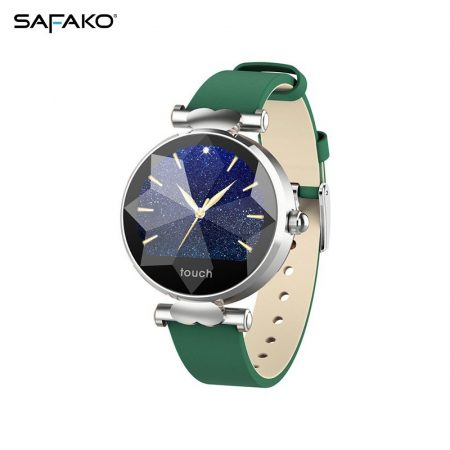 Safako SB8010 argent Montre intelligente vert sangle