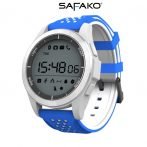 Safako SmartWatch Sport 2010 imperméable Montre intelligente (bleu- blanc)