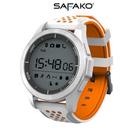Safako SmartWatch Sport 2010 imperméable Montre intelligente (orange- blanc)