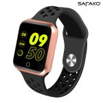 Safako SWP10 Reloj inteligente (rose gold-negro)