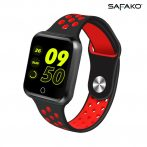 Safako SWP10 Montre intelligente (noir- rouge)