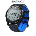 Safako SmartWatch Sport 2010 imperméable Montre intelligente (bleu- noir)