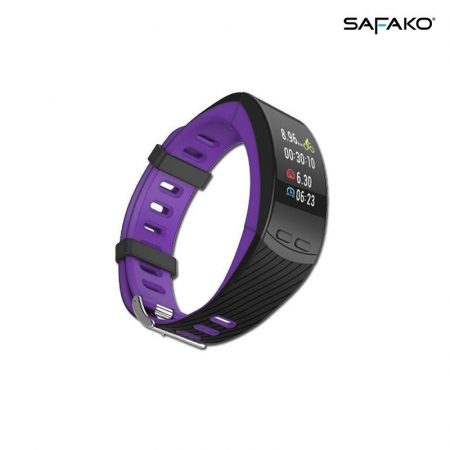 Safako SB9010 GPS Smart bracelet purple-black